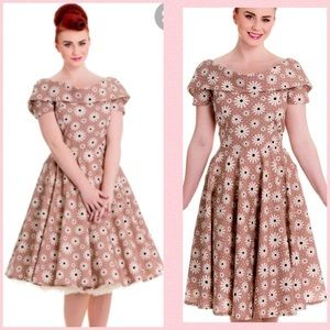 1950s style vintage inspired dress